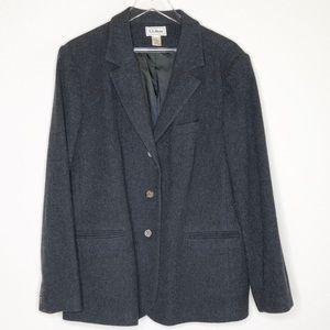 L.L. Bean Jackets & Coats - LL Bean Coat Blazer Peacoat Dark Grey Charcoal